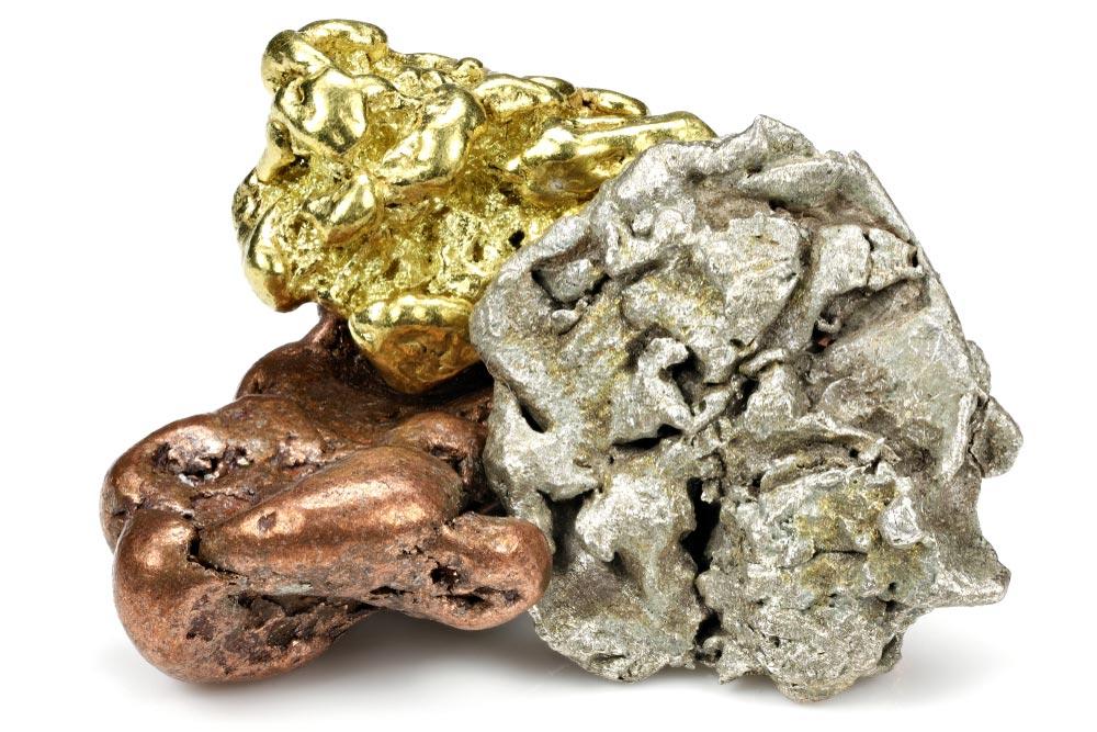 różne rodzaje i kolory złota